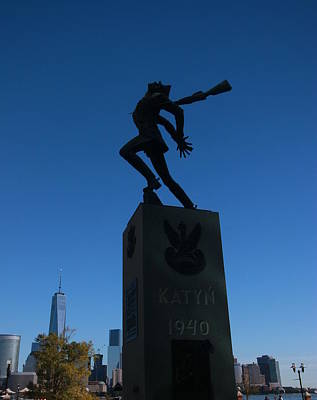 Photograph - Katyn Memorial Jersey City by Allen Beatty