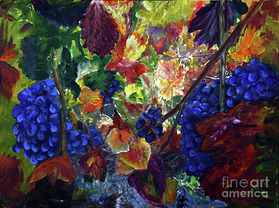 Katy's Grapes Art Print by Donna Walsh