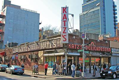Deli Photograph - Katz's by Jerry Patterson