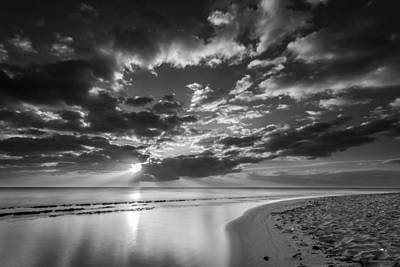 Photograph - Kauai Beach Sunrise Bw by Pierre Leclerc Photography