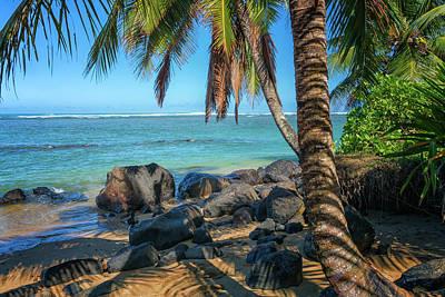 Photograph - Kauai Beach With Palm Trees Hawaii 7r2_dsc4998_01152018 by Greg Kluempers
