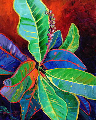Painting - Kauai Croton Leaves 2 by Marionette Taboniar