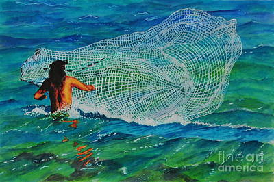 Painting - Kauai Fisherman by John W Walker
