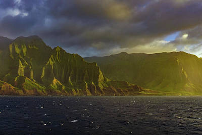 Photograph - Kauai Golden Sunset by Dave Matchett