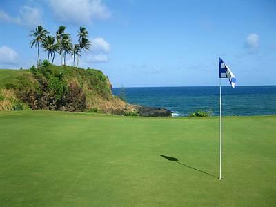Golf Photograph - Hokuala - Ocean Course - Hole #14 by Scott Carda