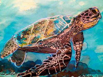 Painting - Koloa Landing Turtle  by Dottie Phelps Visker