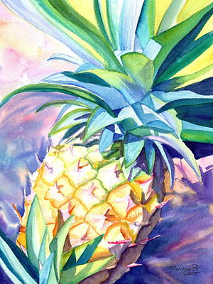 Painting - Kauai Pineapple 3 by Marionette Taboniar