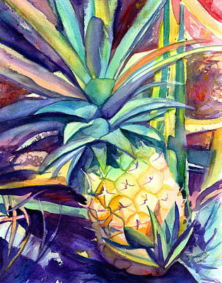 Painting - Kauai Pineapple 4 by Marionette Taboniar