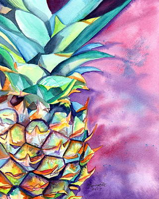 Painting - Kauai Pineapple 5 by Marionette Taboniar