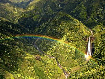 Photograph - Kauai Rainbow by Susan Rissi Tregoning