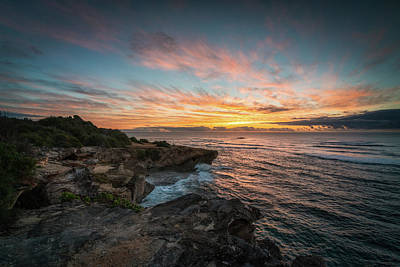 Photograph - Kauai Seascape Sunrise by James Udall