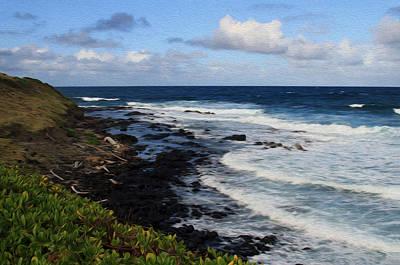 Modern Man Surf - Kauai Shore 1 by Bonnie Follett