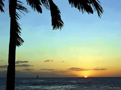 Painting - Kauai Sunset by Ellen Henneke