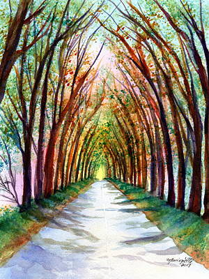 Painting - Kauai Tree Tunnel 4 by Marionette Taboniar