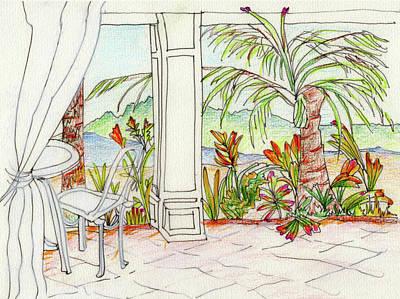 Mixed Media - Kauai View - 2 by Barbara Jacobs