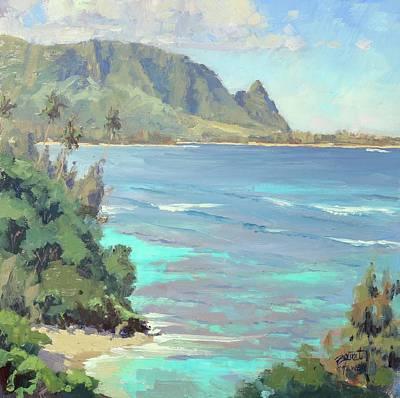 Hawaii Painting - Kauai Waters by Pierre Bouret