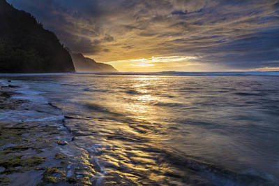Photograph - Kauai's Dramatic Sunset by Pierre Leclerc Photography