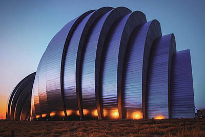 Photograph - Kauffman Center Architecture - Kansas City Dawn by Gregory Ballos