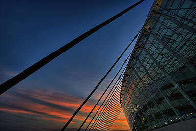 Kauffman Center Cabled Art Print by Thomas Zimmerman