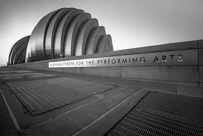 Photograph - Kauffman Center For The Performing Arts - Kansas City - Black And White Edition by Gregory Ballos