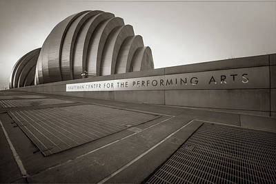 Photograph - Kauffman Center For The Performing Arts - Kansas City - Sepia Edition by Gregory Ballos
