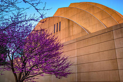 Photograph - Kauffman Performing Arts Center Architecture In Spring At Sunset - Kansas City by Gregory Ballos