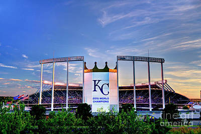 Royals Kauffman Stadium 2015 World Champions Art Print