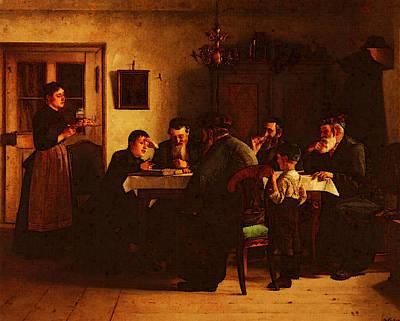 Talmud Digital Art - Kaufmann Isidor Discussing The Talmud by Isidor Kaufmann
