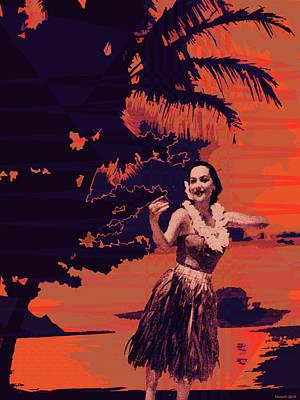 Tropical Digital Art - Kauluwela Hula 3 by Kenneth Grzesik
