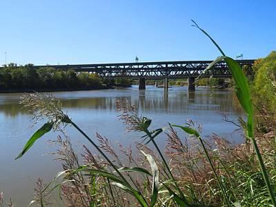 Photograph - Kaw Point Bridges by Keith Stokes