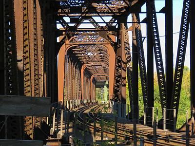 Photograph - Kaw Point Railroad Bridge by Keith Stokes