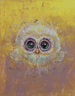 Colored Owl Painting - Hoot by Michael Creese