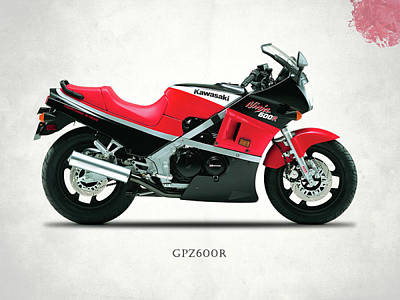 Kawasaki Gpz 600r Art Print by Mark Rogan