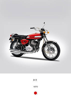 Kawasaki H1 1970 Art Print by Mark Rogan