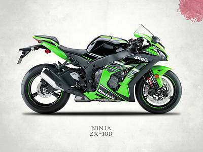 Kawasaki Ninja Zx-10r Art Print by Mark Rogan