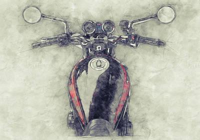 Mixed Media - Kawasaki Z1 - Kawasaki Motorcycles 1 - 1972 - Motorcycle Poster - Automotive Art by Studio Grafiikka