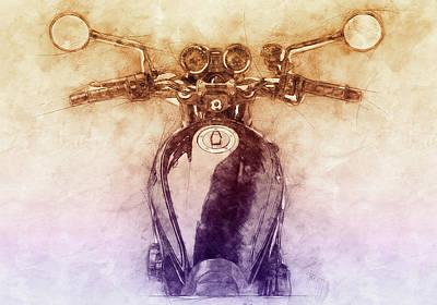 Mixed Media - Kawasaki Z1 - Kawasaki Motorcycles 2 - 1972 - Motorcycle Poster - Automotive Art by Studio Grafiikka