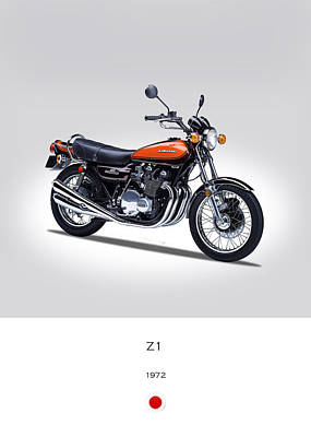 Kawasaki Z1 Art Print by Mark Rogan