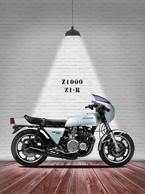 Kawasaki Z1-r 1977 Art Print by Mark Rogan