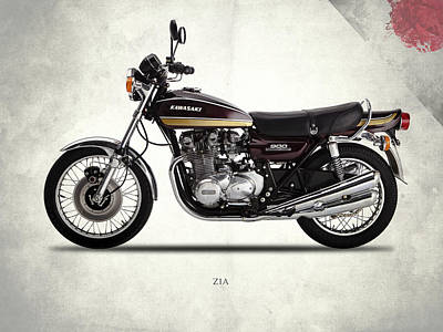 Kawasaki Z1a 1974 Art Print by Mark Rogan