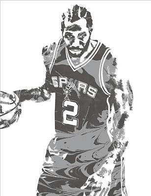 Mixed Media - Kawhi Leonard San Antonio Spurs Pixel Art 15 by Joe Hamilton