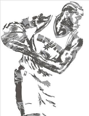 Mixed Media - Kawhi Leonard San Antonio Spurs Pixel Art 17 by Joe Hamilton