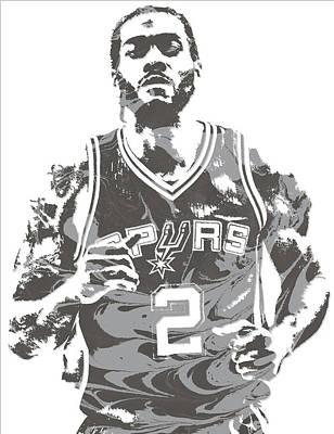 Mixed Media - Kawhi Leonard San Antonio Spurs Pixel Art 18 by Joe Hamilton