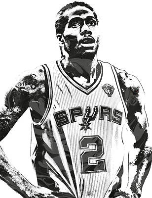 Basket Ball Mixed Media - Kawhi Leonard Sanantonio Spurs Pixel Art 3 by Joe Hamilton