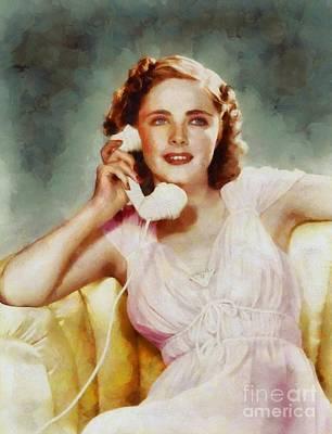 Kay Aldridge, Vintage Hollywood Actress Art Print by Sarah Kirk
