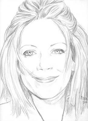 Drawing - Kay by Bryan Bustard