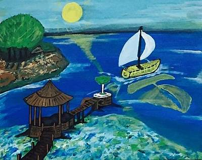 Painting - Kaya Mawa Resort, Lake Malawi, Africa by Jonathon Hansen