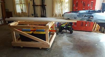 Photograph - Kayak 1 - Moveable Storage And Loading Cart by Greg Jackson