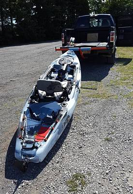 Photograph - kayak 11 - Loading for trip home by Greg Jackson