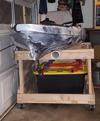 Photograph - Kayak 8 - Stored On Moveable Cart by Greg Jackson